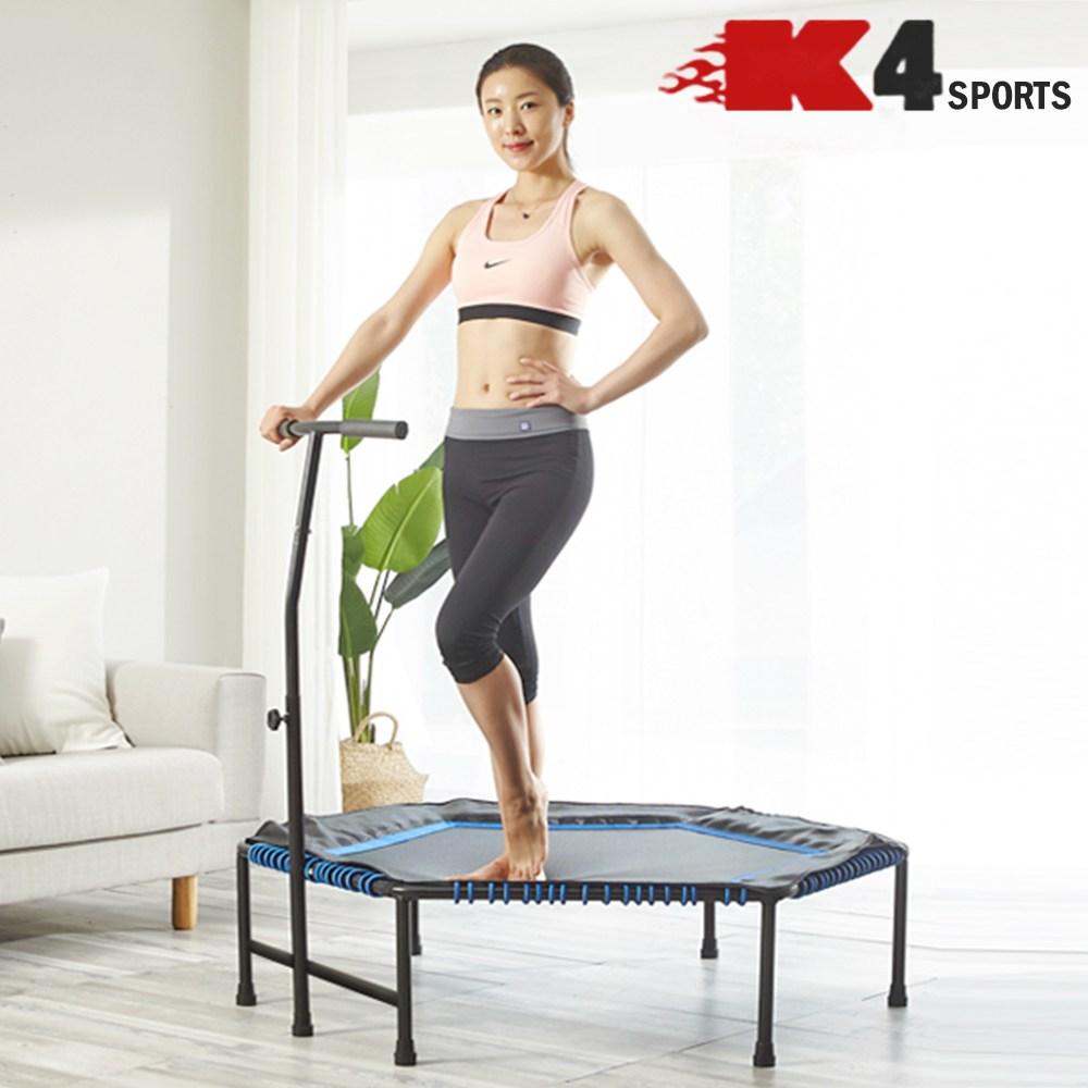 K4스포츠아몸디 K4-318 트램폴린 방방이 45인치 50인치 점핑피트니스 다이어트, 블루