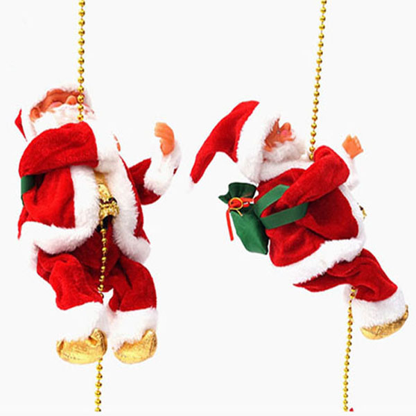 줄타는 산타 크리스마스트리장식 산타인형 크리스마스소품