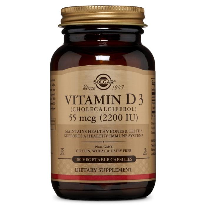 솔가 비타민 D3 (콜레칼시페롤) 2200IU 베지터블 캡슐, 100개입, 1개