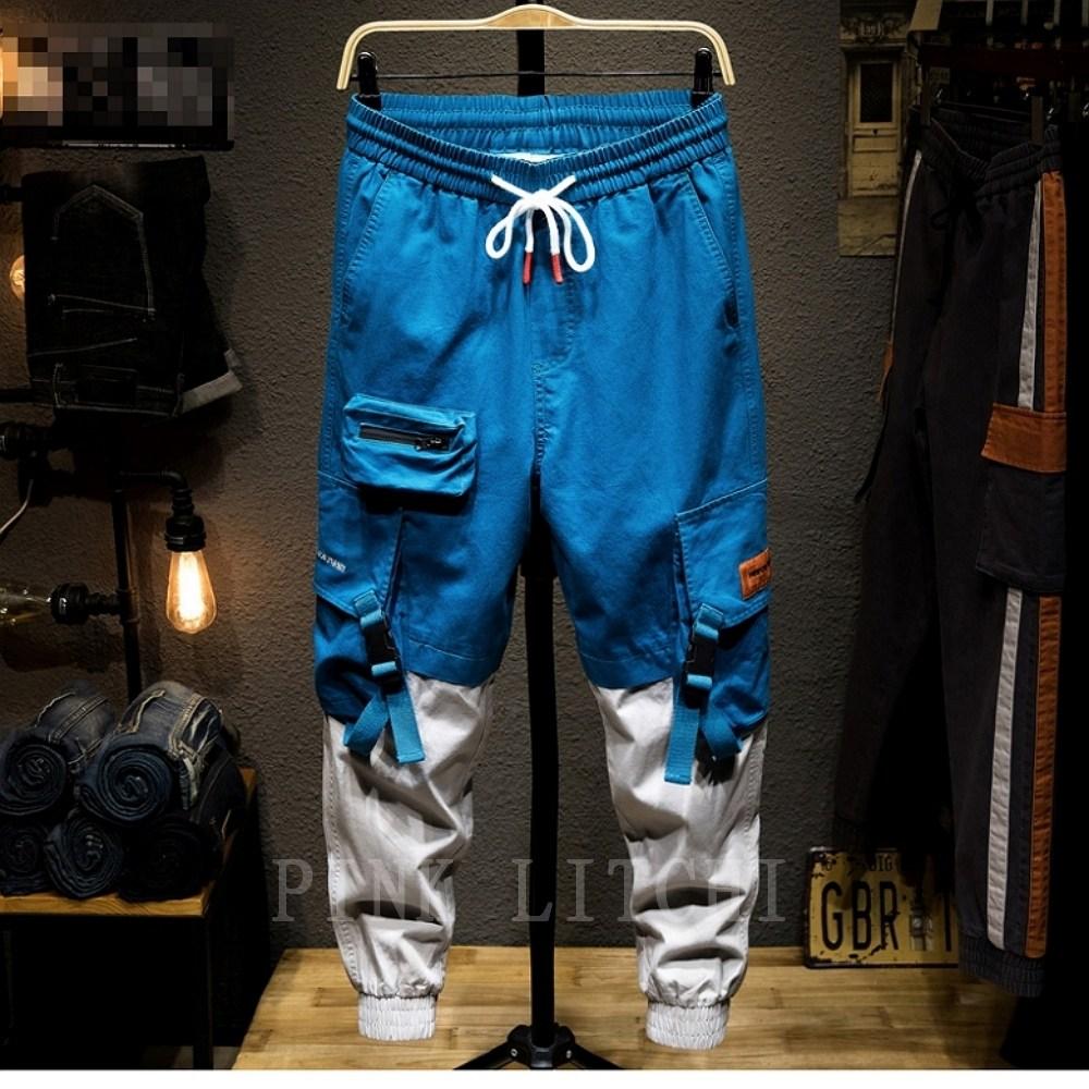남자 카고바지 조거팬츠 운동복 바지 루즈핏 캐주얼 패션 NovQXL5L PINK LITCHI 캐쥬얼 밀리터리 밴딩 카고 LLL1213XRH07+사은품증정