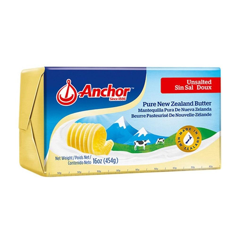 앵커 무염 버터 454g, 2개, 아이스박스+아이스팩 포함