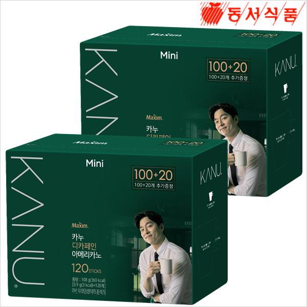 카누미니디카페인100T+20Tx2개, 단일상품