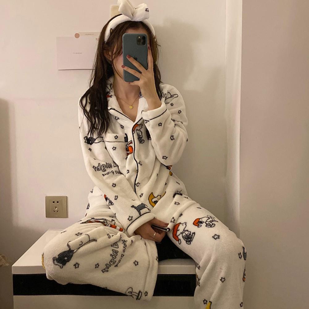 스누피 극세사 수면 잠옷 캐릭터 파자마 헤어밴드 포함