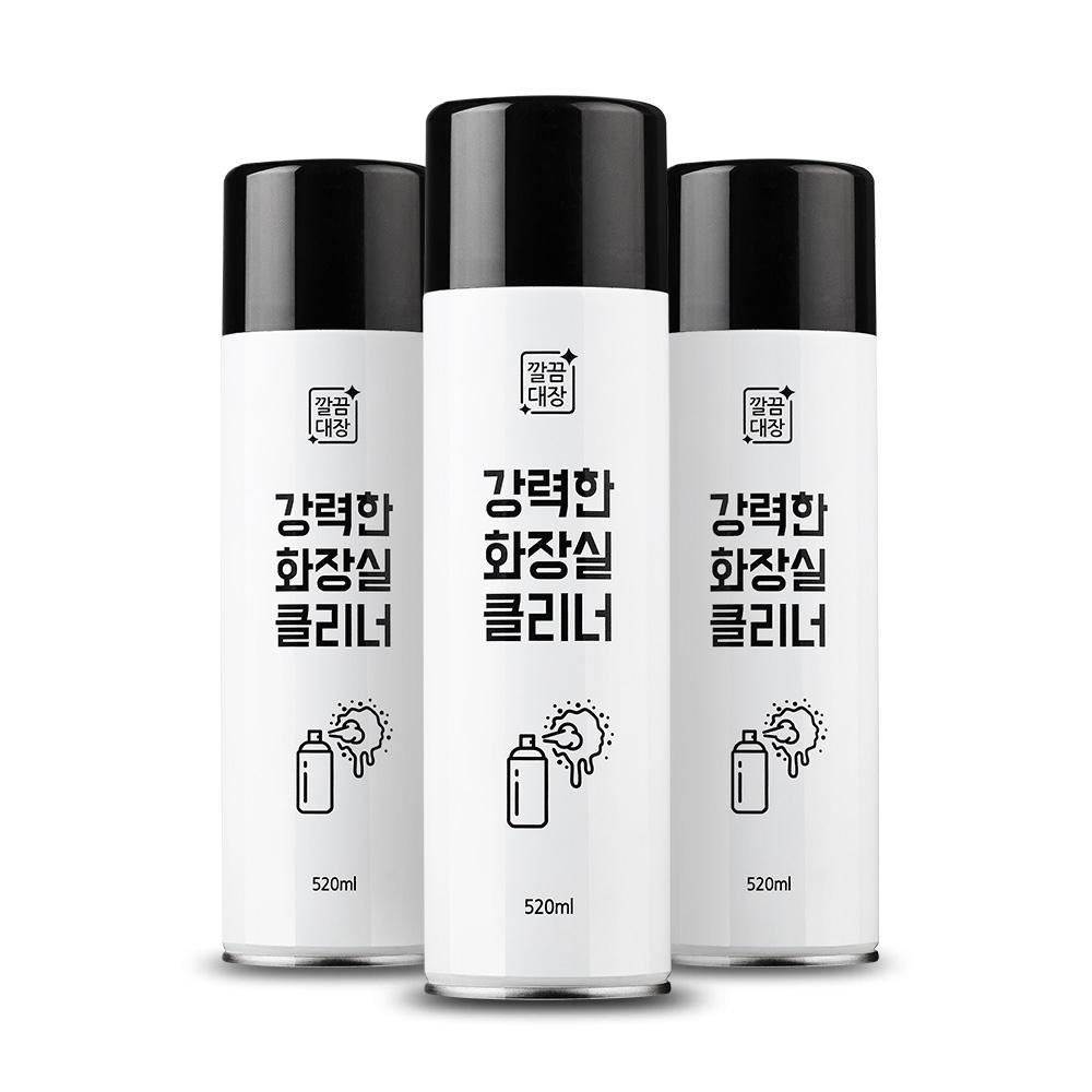 [깔끔대장] 강력한 화장실클리너 520ml, 1개