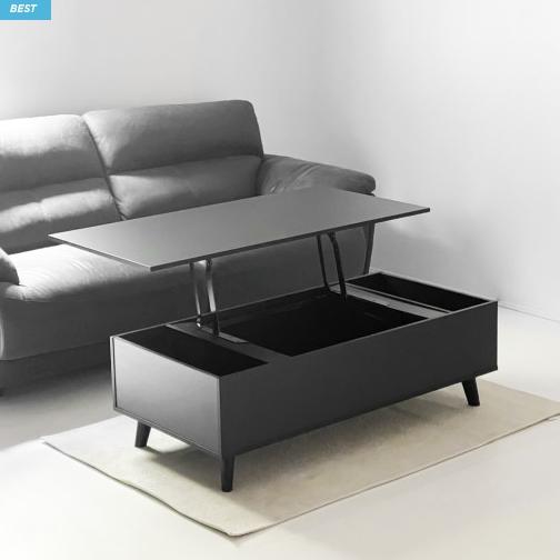 코린트리 4color 리프트 거실테이블 소파테이블 1200, 블랙