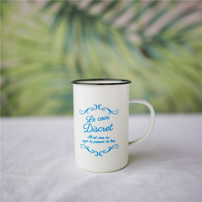 법랑컵 빈티지 등산 머그 컵 감성 집들이선물, 블루프랑스 1