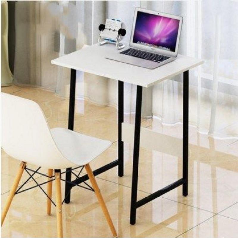 원룸 자취방 1인용 책상 컴퓨터 데스크 사무용 공부방 책상, 화이트 60 * 40