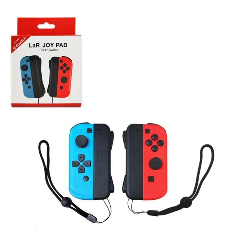 닌텐도 스위치 조이콘 패드 추가 컨트롤러, 1개, NS 빨간색 및 파란색 핸들 + 핸드 스트랩