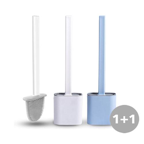 1+1 소프트 실리콘 변기솔 브러쉬/ 화장실청소도구 변기청소, 화이트, 화이트