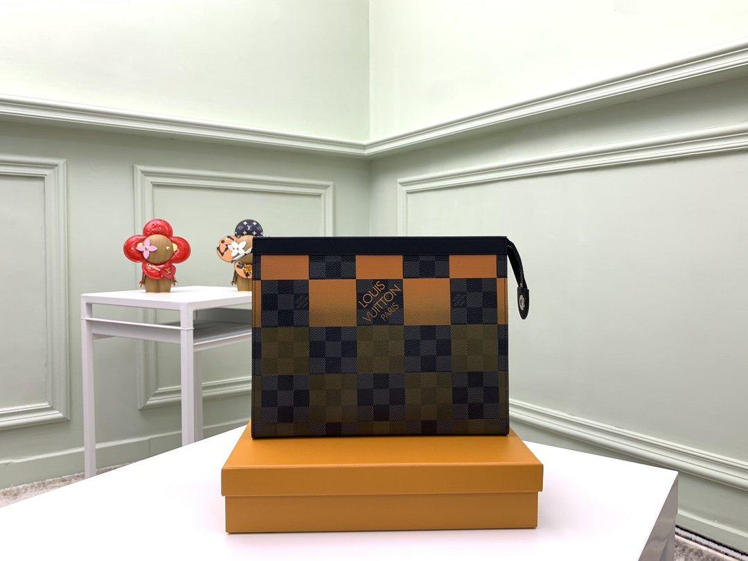BBAG-루이비통 N60412 오렌지 포쉐트 보야주 클러치