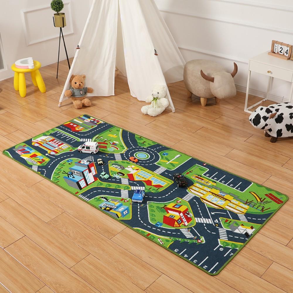자동차도로매트 아기방꾸미기 러그 도로놀이 카펫 어린이