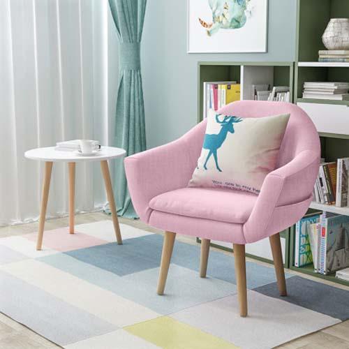 에펠 체어 편한의자 리클라이너 1인 소파 핑크 싱글 이태리 암체어 인테리어 식탁 왕의자, 단일상품