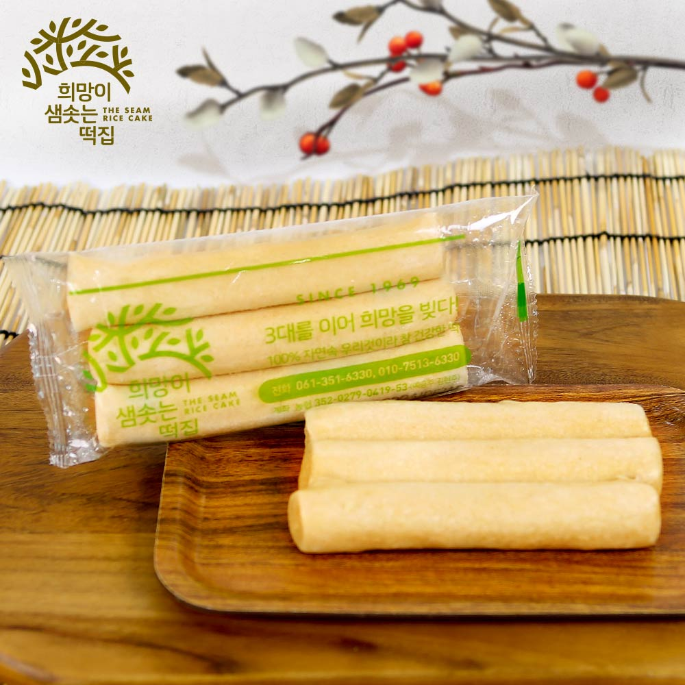 희망이샘솟는떡집 현미가래떡 2Kg (냉동) 3입포장, 1box