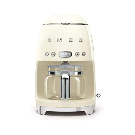 Smeg 50s Retro Style Aesthetic Drip Filter Coffee Machine 10 cups Pastel Green 9999991860481, 상세 설명 참조0