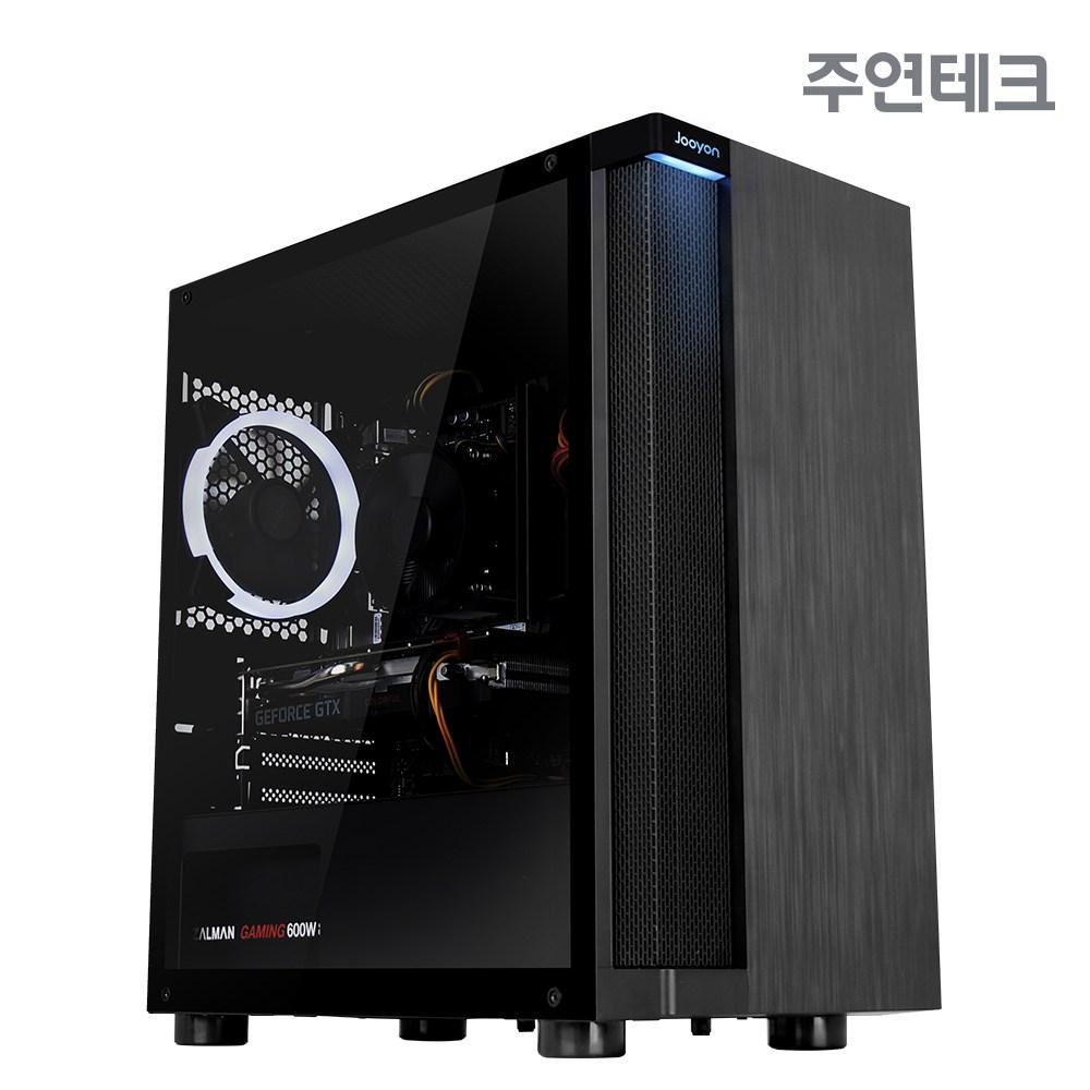 주연테크 TINY-14F6S 게이밍PC (인텔 10th i5-10400F GTX1660SUPER H410 DDR4 8G SSD 256GB WIN 미포함), 블랙, FreeDOS(미포함)
