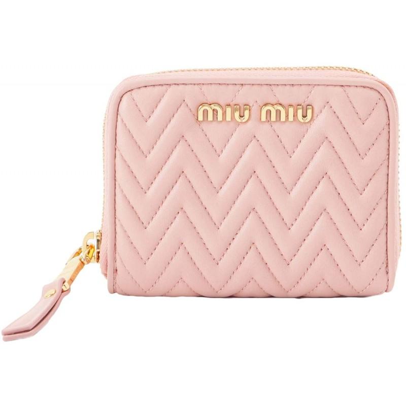 [유덕화] MIUMIU 동전 지갑 카드 케이스 가죽 5MM268 [병행 수입품]