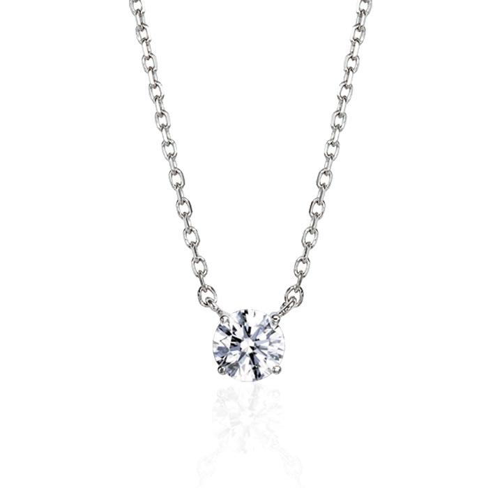 당일발송 3부 엑설런트컷 프로포즈 결혼예물 솔리테어 천연 다이아몬드목걸이