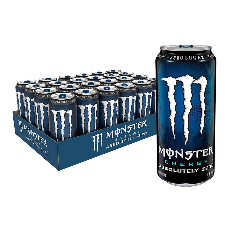 몬스터 에너지 절대적으로 제로 저 칼로리의 에너지 음료 16 온스 (24 팩), 선택, 상세설명참조