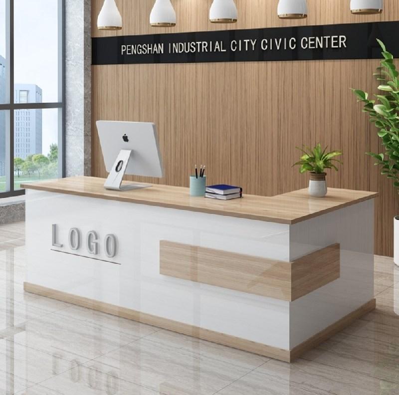 MANGOFACTORY 인포메이션 카운터테이블 미용실 식당 안내데스크, 블랙 100x60x80cm
