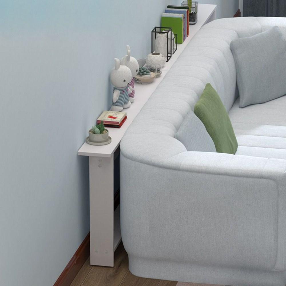 심플 모던 좁고긴 폭좁은 틈새테이블 침대틈새선반 쇼파뒤책장, 100x10x65cm