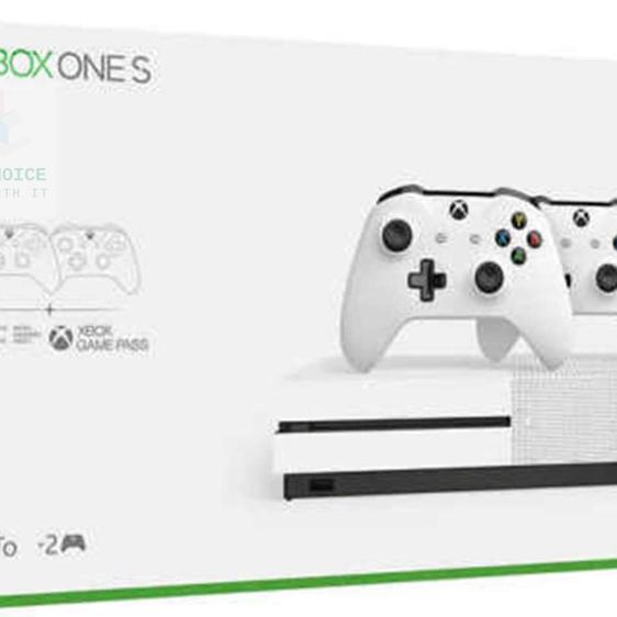 Xbox [관부가세 포함] One S Two Controller bundle (1TB) 2개의 무선 컨트롤러 1개월 게임 패스 평가판 14일 Live 골드 포함 XBOX ONE, 단일