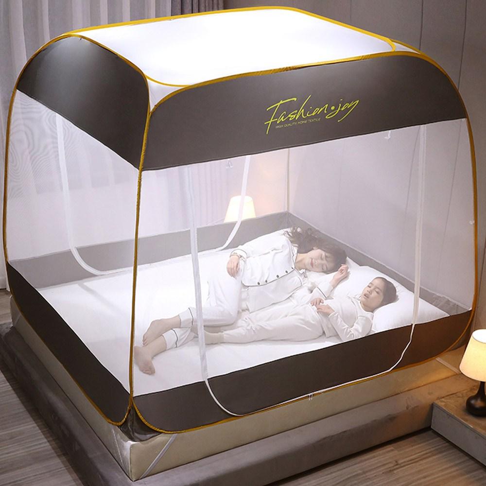 원터치모기장 텐트형 사각침대모기장 디자인 M-FJ 모기장, 차콜