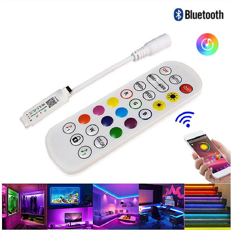 LED 스트립 빛에 대 한 RGB 블루투스 컨트롤러 음악 동기화 LED 컨트롤러 DC5V 12V|RGB Controlers|, 1개, 단일, 단일