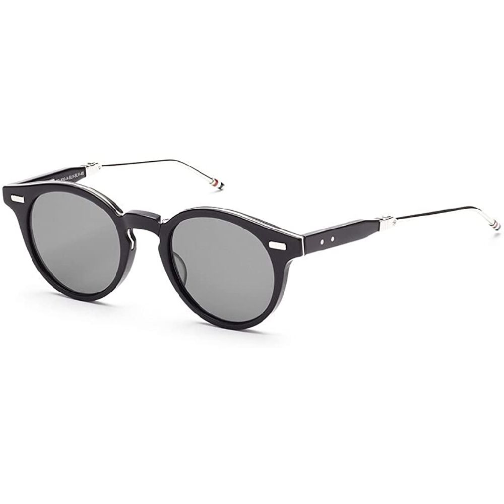 Thom Browne 톰 브라운 TB 어두운 회색-AR 선글라스 w 806 BLK-SLV 매트 블랙 - 실버