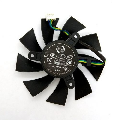 [해외] HA9515H12SFZ DC12V 0.45A MSI GTX950 2GD5 OC 1060 3G 6G OC R7 360 2GD5 OC 그래픽 카드 냉각 팬, 상세내용표시