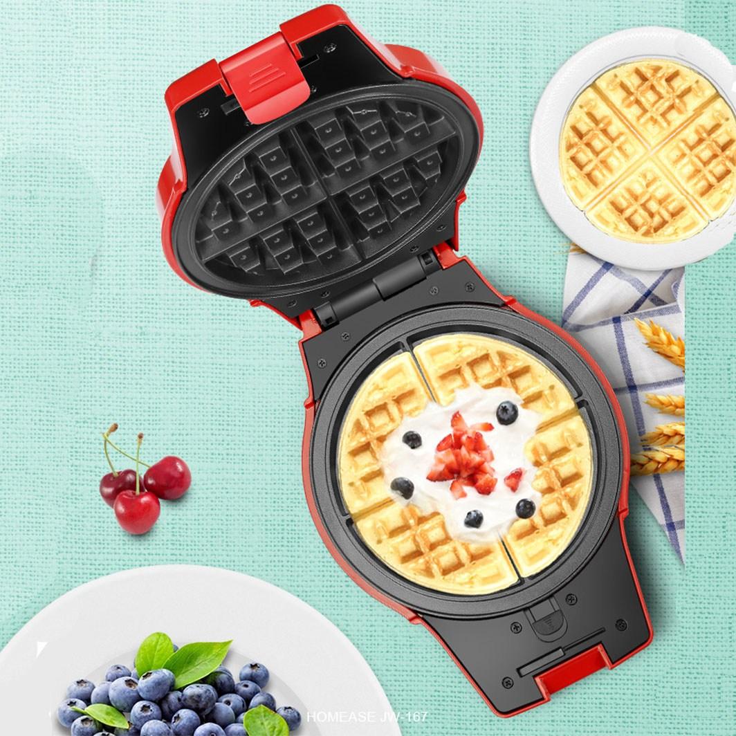 . 와플메이커 개리와플기계 길거리 와플기계 홍콩에그와플 붕어빵 다기능, 레드 4가지