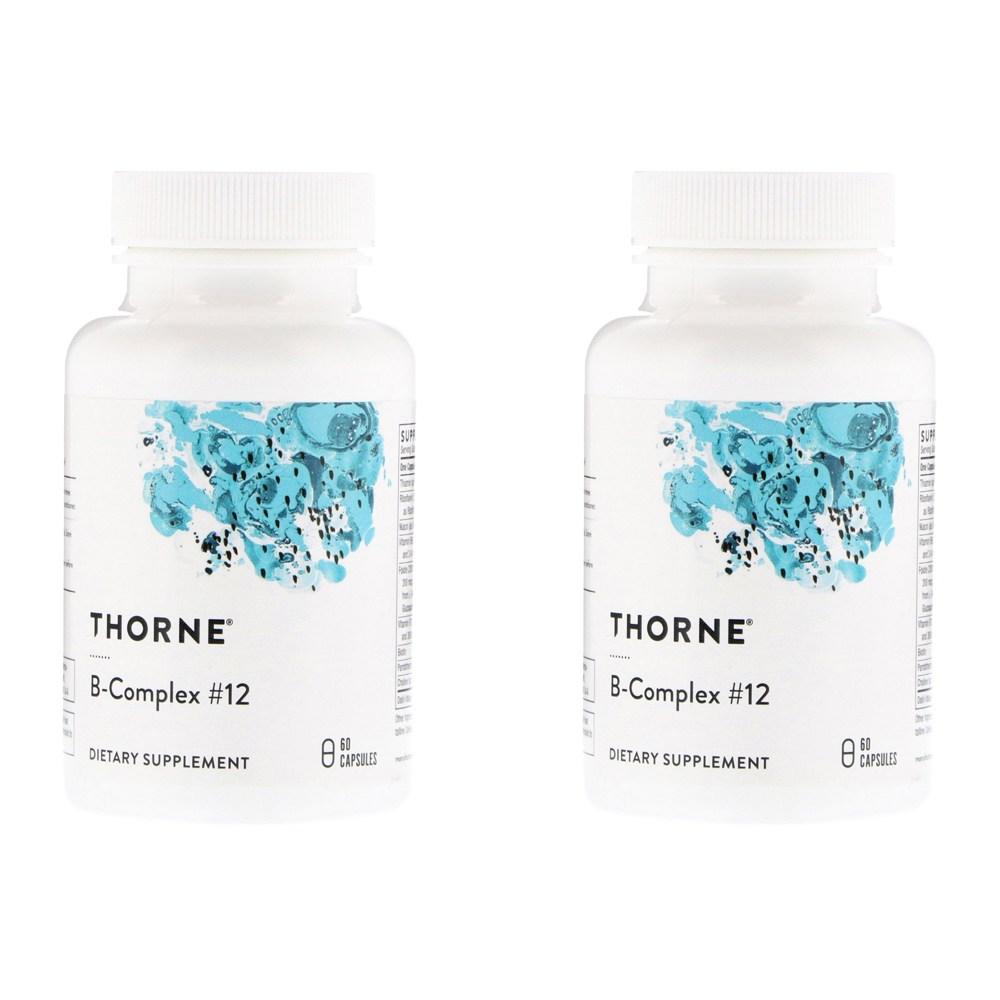 Thorne Research B복합체12 60정 2병, 선택, 상세설명참조