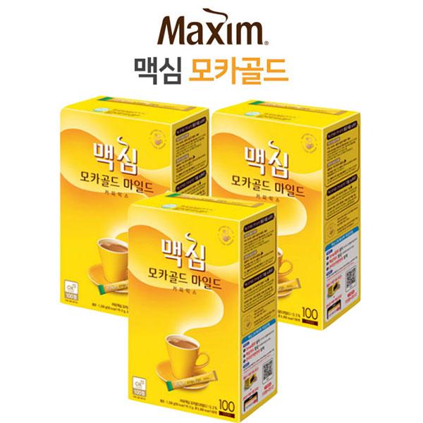 투엠샵 맥심모카골드100T 커피믹스 믹스커피, 3개