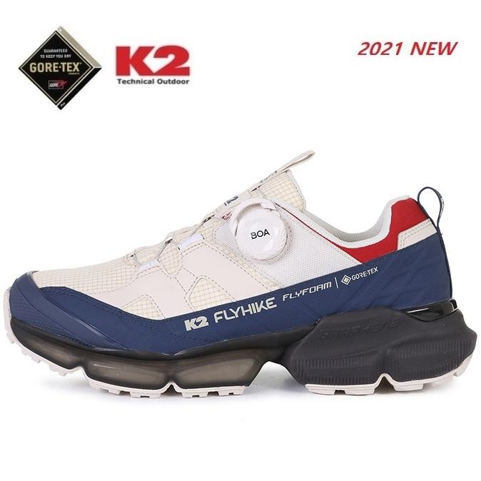 K2 케이투 광고상품 공용화 고어텍스 워킹화 트레킹 하이킹화 등산화 플라이 하이크 큐브 FUS21G14-W5 (IVory)