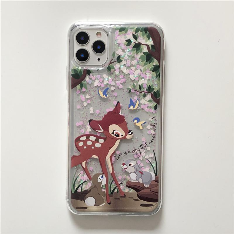 에이치에스엘 하이칙스st 꽃사슴 숲 글리터 밤비 아이폰 케이스 휴대폰