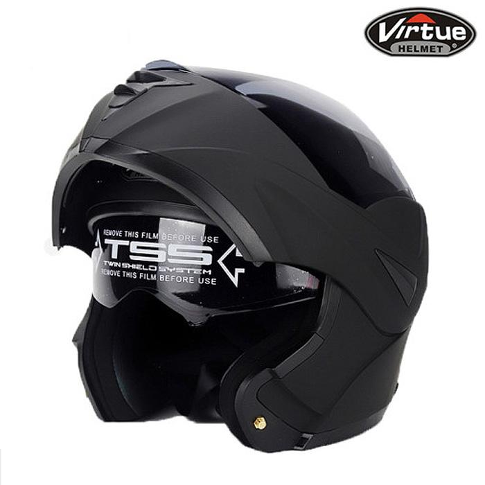 [핑크카트] 오토바이 시스템 헬멧 Virtue 808, 무광블랙