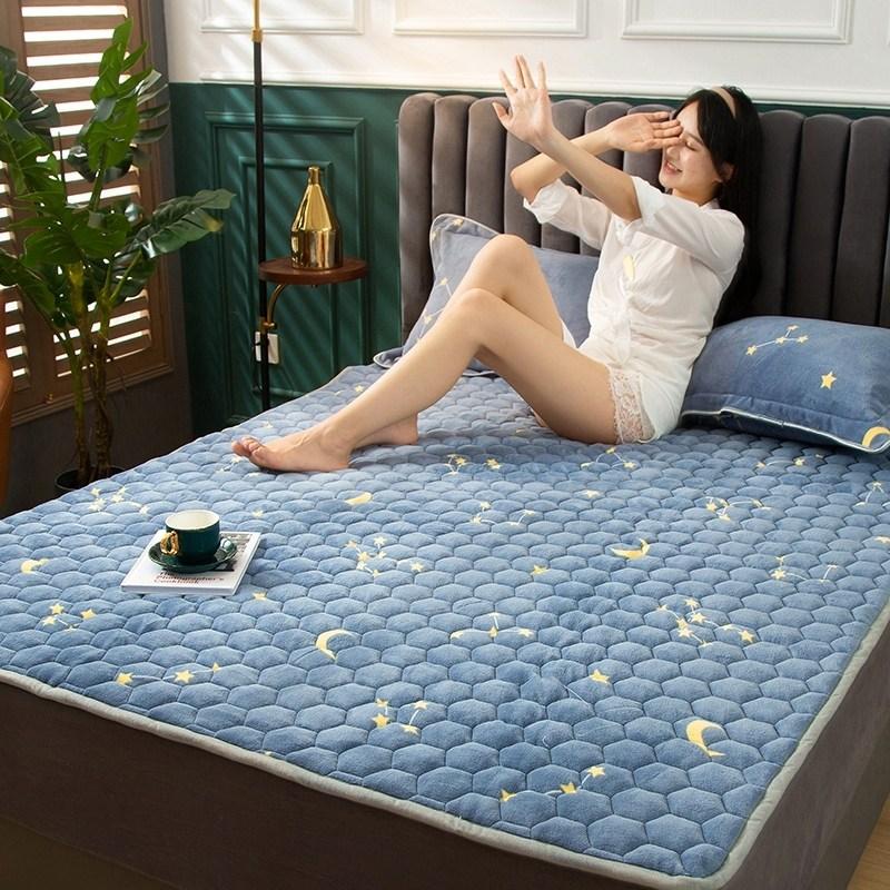 토퍼 템퍼 매트리스 침구 기타 겨울 기모 쿠션 학생 기숙사 싱글 담요 침대, AW_0.9 x 2m