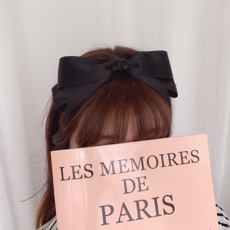 (6컬러)프리티 왕리본 제니머리띠 새틴 기본 심플 헤어밴드 기은세 머리띠