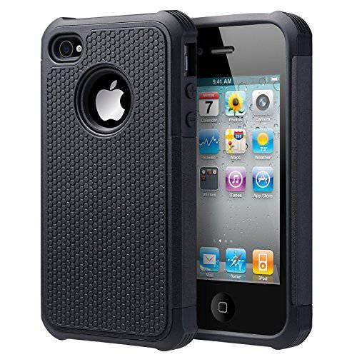 UARMOR 아이폰 4S 케이스 아이폰 4 케이스 충격방지 이중 레이어 Protecti, 상세내용참조, 상세내용참조