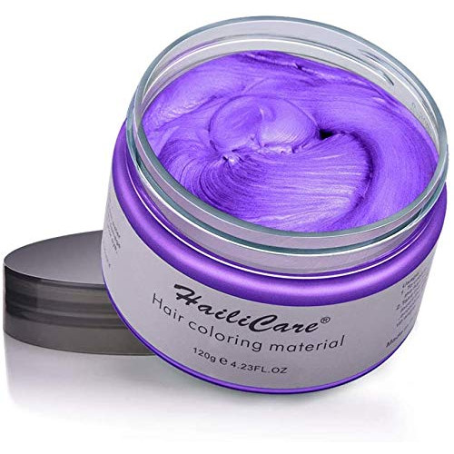 헤어왁스 HailiCare Hair Wax 4.23 oz Professional Pomades Natural Matte Hairstyle Max for Men Women, Color = Purple, 본문참고, 본문참고