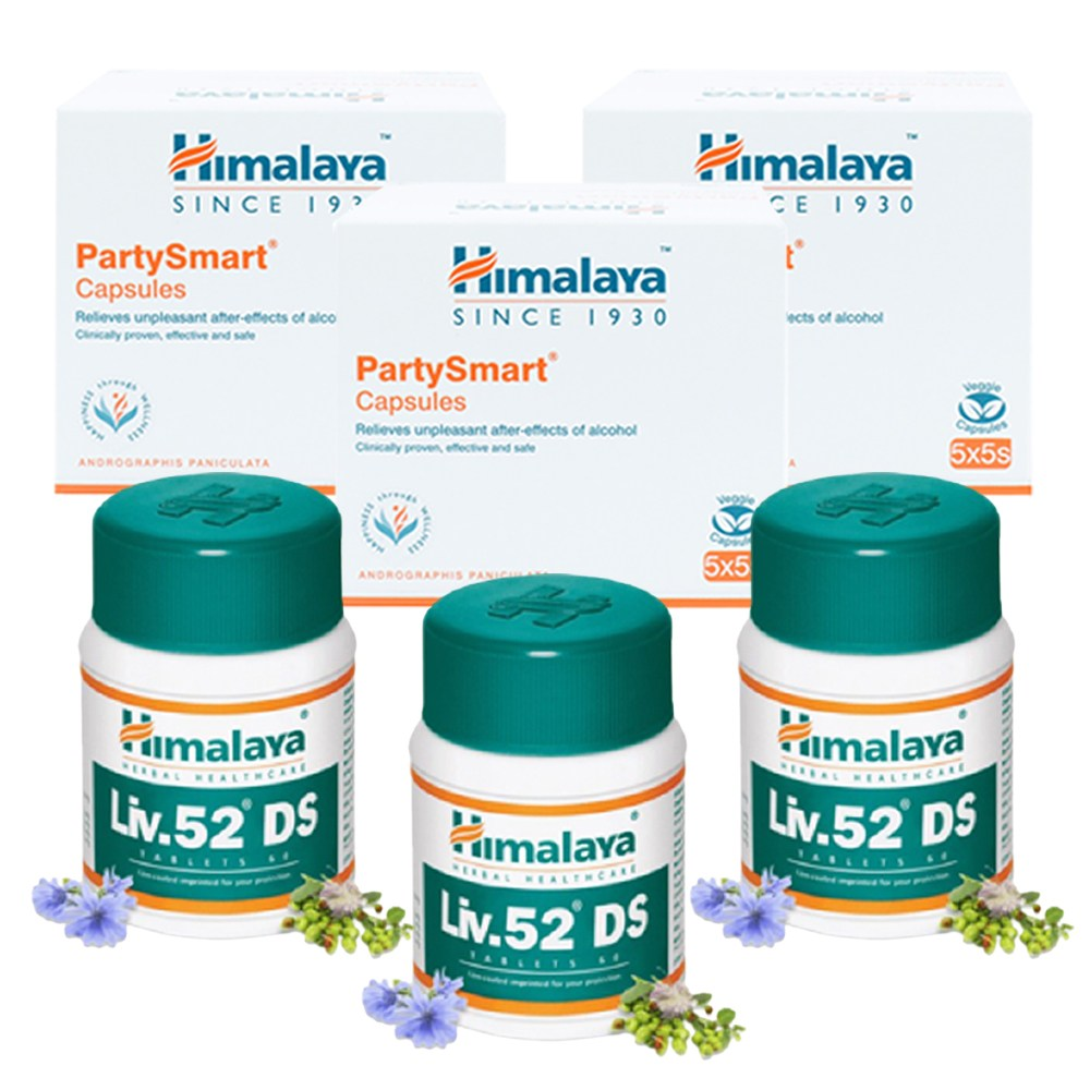 히말라야 파티스마트 숙취해소제 3박스(75캡슐) + 히말라야 간약 리브DS52 3통(180캡슐)