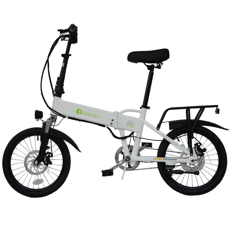접이식 전기자전거 여성 3인용 배달용 전동자전거 전기바이크 접는 새로운 국가 표준 초경량 휴대용 소형 자동차 리튬 오토바이, 배터리 수명 연장으로 표시된 내장 리튬 배터리, 48V