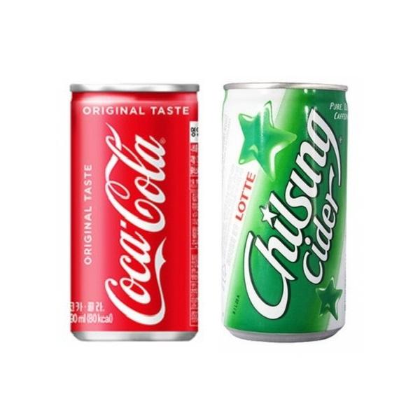 코카콜라 업소용 190ml * 24캔 + 칠성사이다 (총48캔), 48캔
