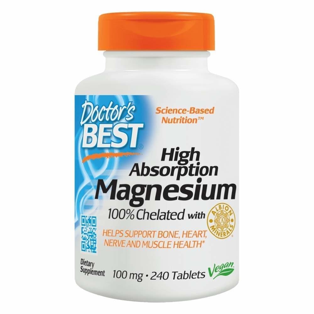 닥터스 베스트 High Absorption 마그네슘 100 mg 240 정, 개, 1개