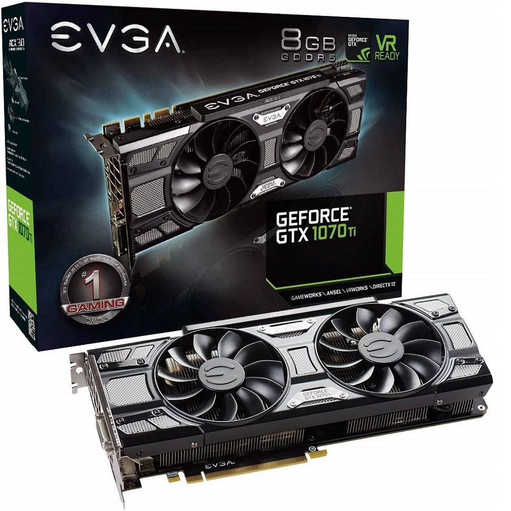 EVGA GeForce GTX 1070 Ti SC GAMING ACX 3.0 Black Edition 8GB GDDR5 (08G-P4-5671-KR) 그래픽카드, 08G-P4-5671-KR