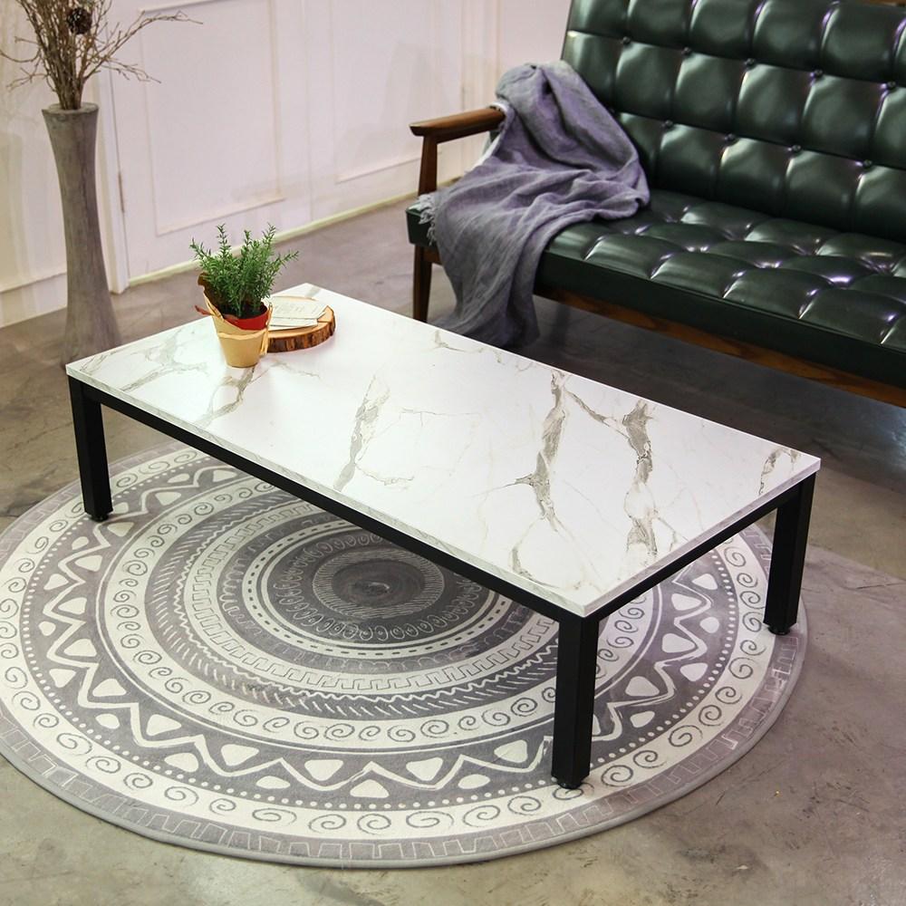 서광퍼니처 엘리엇 스틸 1200 좌식 테이블 소파, 화이트마블