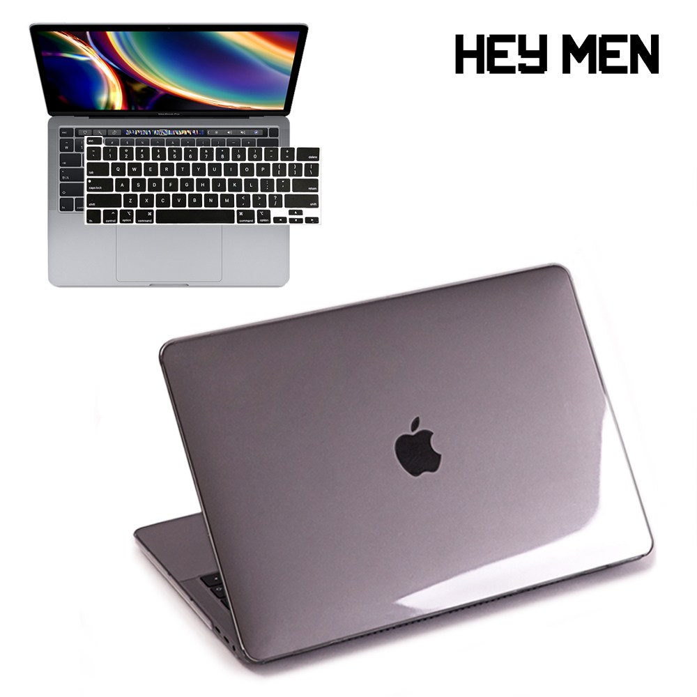 헤이맨 맥북에어 M1 13인치 2020 A2337 A2179 투명 케이스 + 키보드 스킨, 투명 케이스 + 블랙 키스킨