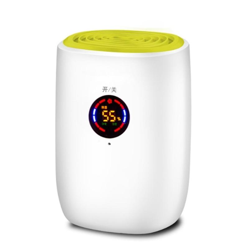전기 미니 공기 제습기 800ml 휴대용 LED Discplay 공기 청정기 기계 자동 전원 끄기 가정용 100-240V EU 용 제상, 터치 모델-녹색, EU 플러그 (POP 5621371486)