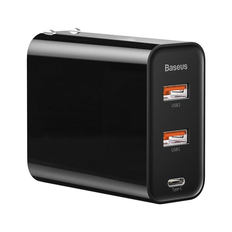 Baseus 65W 질화 갈륨 충전기 3 포트 듀얼 타입 c + USB 빠른 충전 미니 충전 헤드, 상세내용참조, 상세내용참조