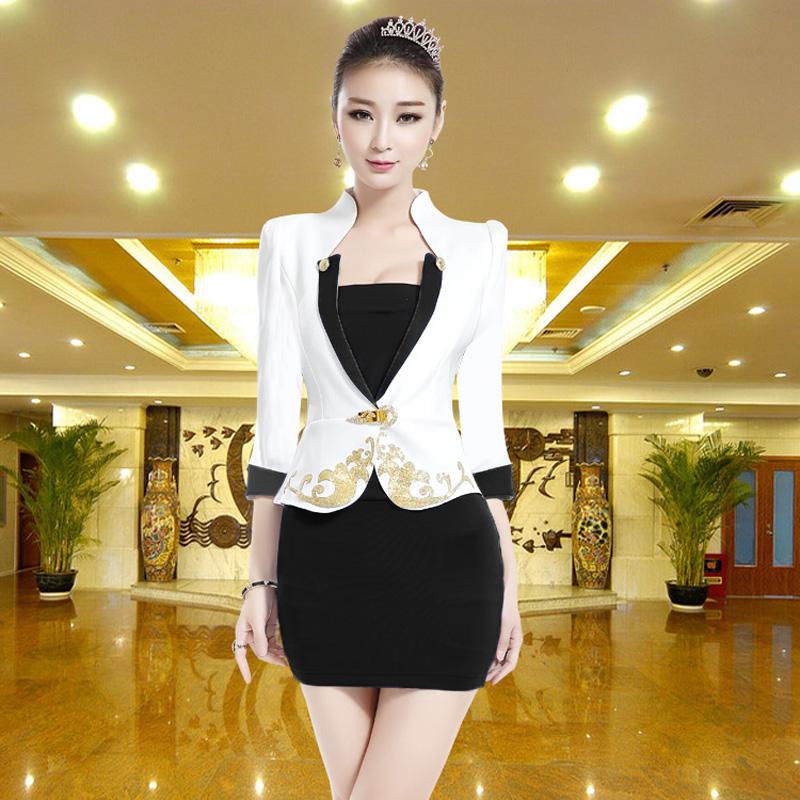 족욕 마사지사복 배기 작업복 호텔 족욕을 함 스파 여성, XXXL 블랙 긴소매