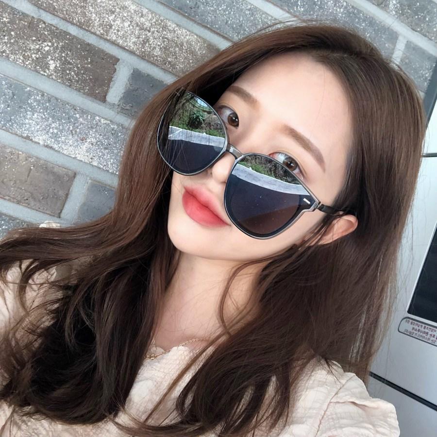 VANANA2 남녀공용 오버사이즈 라운드테 패션 선글라스